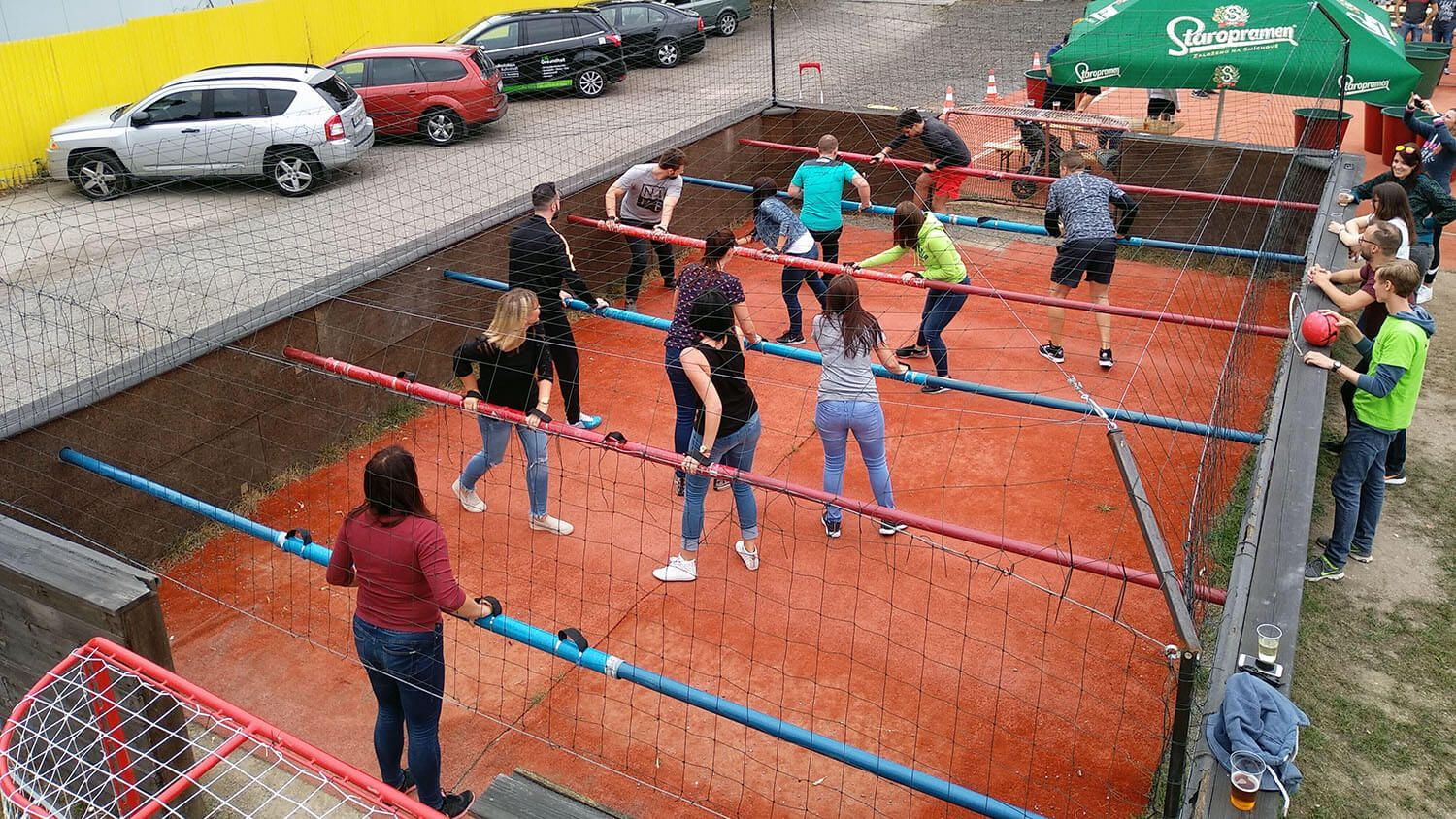 Human table football 3