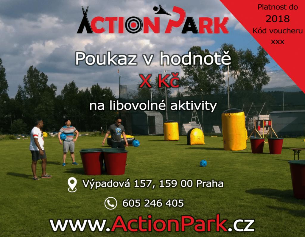 Dárkový poukaz Action Park Praha