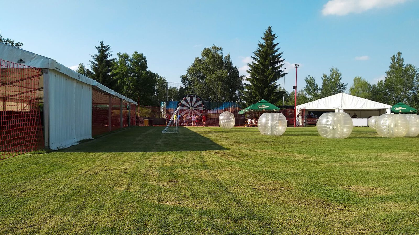 Party tents and main Action Park space
